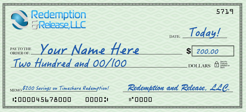 200 Dollar Savings Timeshare Redemption
