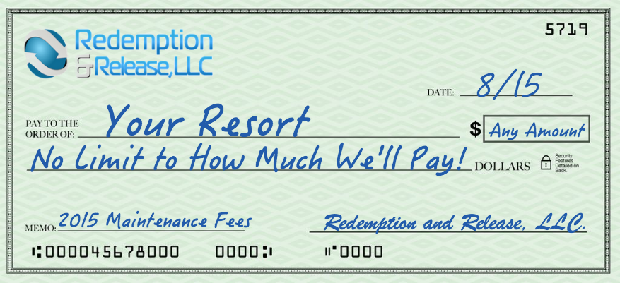 Redemption and Release Maint Fees Blank Check